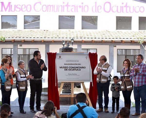 El Museo Comunitario de Ocuituco cuenta con salas de exhibición y lectura, auditorio, cafetería, bodegas y plaza de acceso. Beneficia más de 18 mil habitantes y representó una inversión de cuatro millones de pesos
