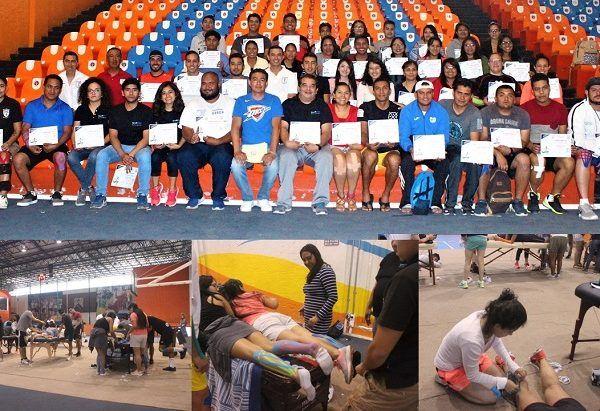 Paul Michael Calderón Hidalgo, presidente de la Asociación de Cultura Física de Morelos, se encargó de dar la bienvenida en el primer día de actividades