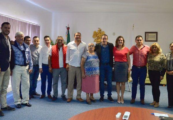 El encuentro se desarrolló con la ausencia del alcalde electo, Antonio Villalobos Adán, y estuv o presente el coordinador de la Comisión de Enlace de la Administración Pública Entrante 2018-2024, José Manuel Sanz Rivera