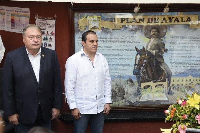 Expresó, durante la conmemoración del 107 Aniversario de la Promulgación del Plan de Ayala, que es tiempo de apoyar verdaderamente al campo y honrar a las manos que lo trabajan, como lo marcan los ideales revolucionarios