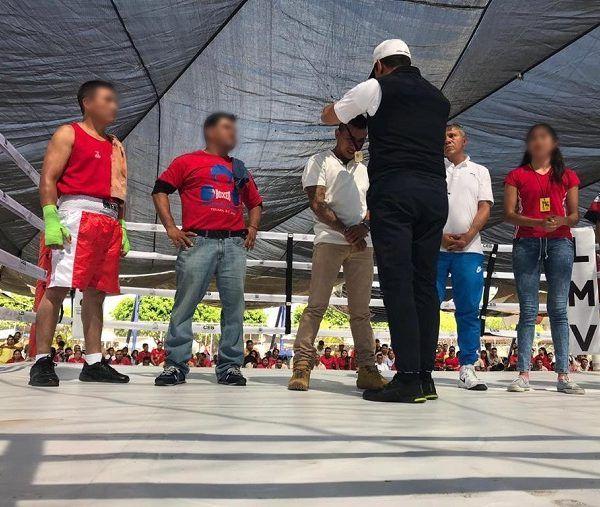 Federico Rivas Valdés, coordinador estatal de Seguridad Pública, encabezó este evento deportivo en compañía de familiares de las personas privadas de la libertad que forman parte de este proyecto, así como del campeón Aristeo Pérez Mozo, quien fue el invitado especial de esta función