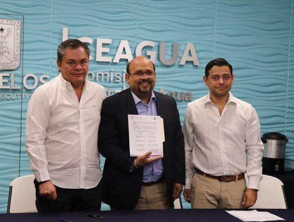 La Comisión Estatal del Agua (Ceagua) y el ayuntamiento de Jiutepec firmaron un convenio de colaboración para la ejecución de nueve obras hidráulicas en el municipio durante el 2019