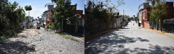 A través de un video, el edil informa que la obra consta de la pavimentación de mil 200 metros cuadrados con concreto hidráulico de la calle Morelos, en la segunda etapa. Los trabajos tuvieron una inversión de un millón 342 mil pesos, recursos económicos provenientes del Fondo de Aportaciones para la Infraestructura Social (FAIS) 2020.