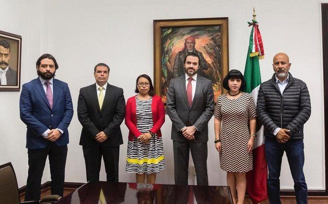 Pablo Ojeda Cárdenas, secretario de Gobierno, acompañado del subsecretario de Gobierno, José de Jesús Guízar Nájera, les pidió trabajar de la mano de la gente, para construir un Morelos en paz y tranquilidad