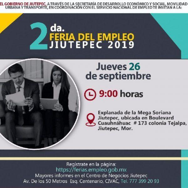 De acuerdo con Bernardo Luis Rosillo Sánchez, secretario de Desarrollo Económico y Social de Jiutepec, el objetivo del evento es vincular a los vecinos del municipio que están en búsqueda de un empleo con 40 empresas registradas que ofertarán 750 vacantes, con rangos de salarios que van de los tres mil a los 17 mil pesos mensuales