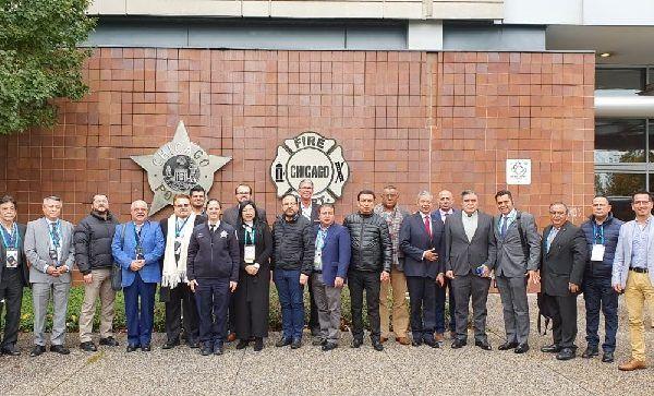 Ortiz Guarneros participó con cientos de jefes de seguridad de todo el mundo las mejores prácticas policiales y el estudio de distintos problemas de seguridad pública