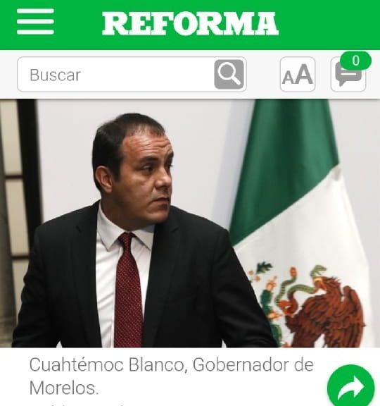El gobernador Cuauhtémoc Blanco Bravo