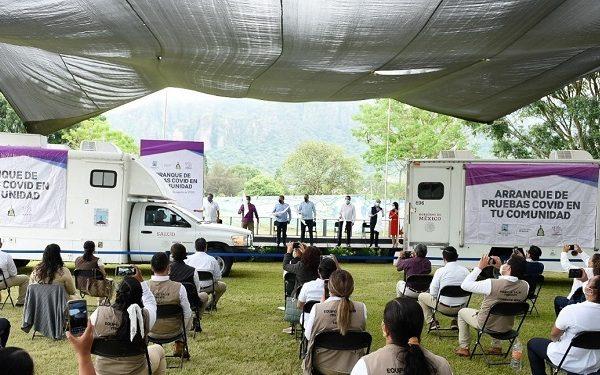 """El gobernador de Morelos, Cuauhtémoc Blanco Bravo, puso en marcha el proyecto de salud """"Pruebas COVID en tu Comunidad"""", el cual pretende detectar posibles brotes de contagio en la entidad para ser atendidos de manera oportuna y, con ello, disminuir todo tipo de riesgos"""